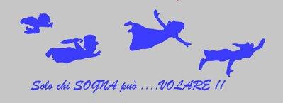 Adesivo murale azzurro Peter Pan