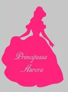 Adesivo murale fucsia Principessa
