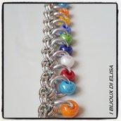 Bracciale chainmail multicolor 1