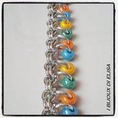 Bracciale chainmail multicolor 2