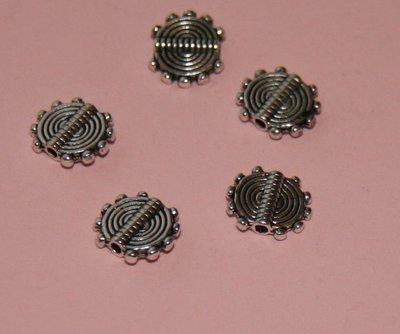 10 Distanziatori in argento tibetano cerchio DIS 8