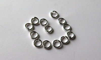 20 Anellini silver plated 10 mm FER 1