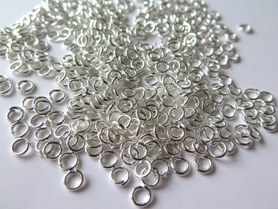 50 Anellini silver plated 5 mm FER 3
