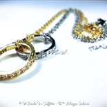 Set di Collane Lui/Lei Anello con Strass