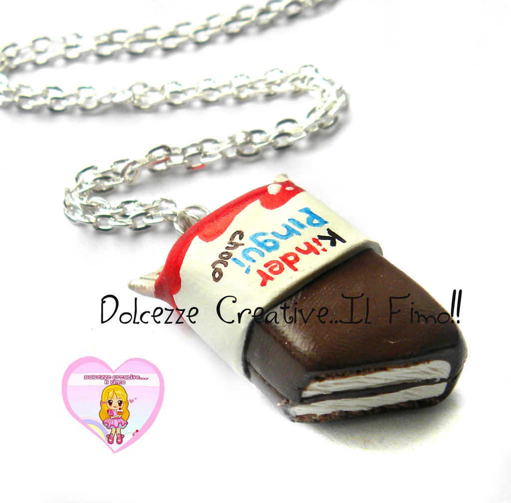 Collana Merendina al latte e cioccolato  - kawaii handmade miniature idea regalo HANDMADE