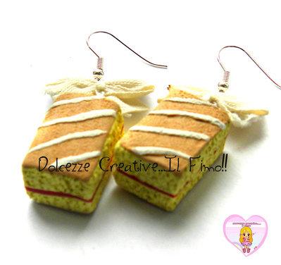 Orecchini Merendine - Merendine ciliegia e cereali - miniature kawaii cute HANDMADE fimo