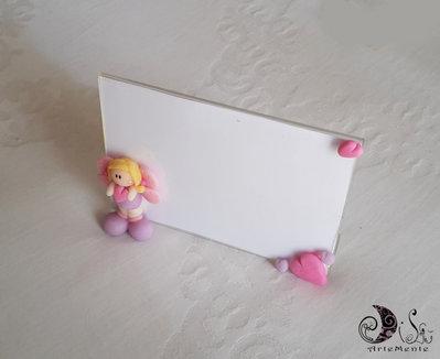 Cornice plexiglass personalizzabile idea regalo bimba con cuore e ali farfalla
