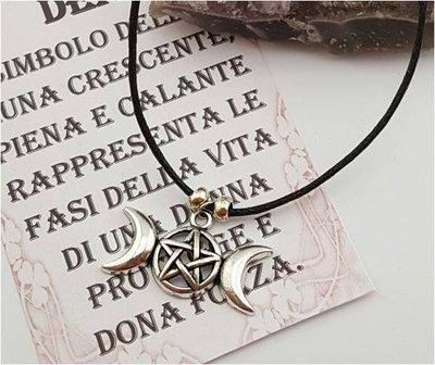 Collana con Simbolo della Triplice Dea