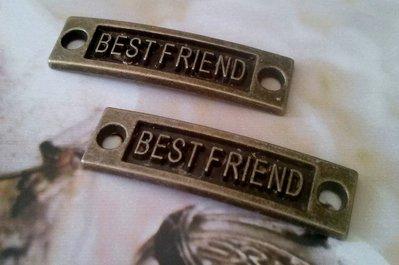 PIASTRA CONNETTORE BEST FRIEND - OTTONE - UOMO DONNA AMICI -BRACCIALE