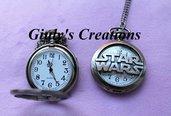Collana orologio STAR WARS Guerre Stellari il risveglio della forza Darth Vader