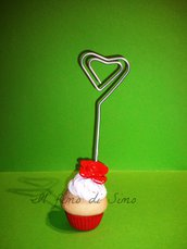bomboniera portafoto segnaposto cupcake in pasta polimerica
