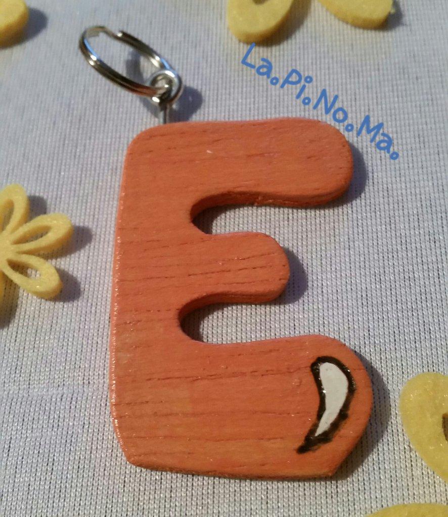 """Portachiavi """"Lettere Alfabeto"""" in legno"""