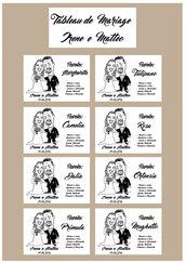 Tableau de marriage con caricatura