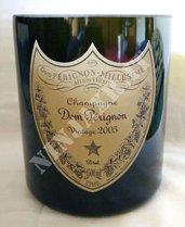 Vaso da bottiglia vuota Dom Perignon Magnum 1500 ml. arredo idea regalo