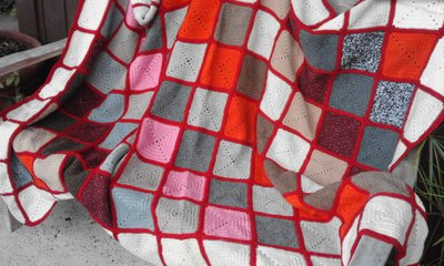 SALDI!!! Coperta in lana fatta a mano
