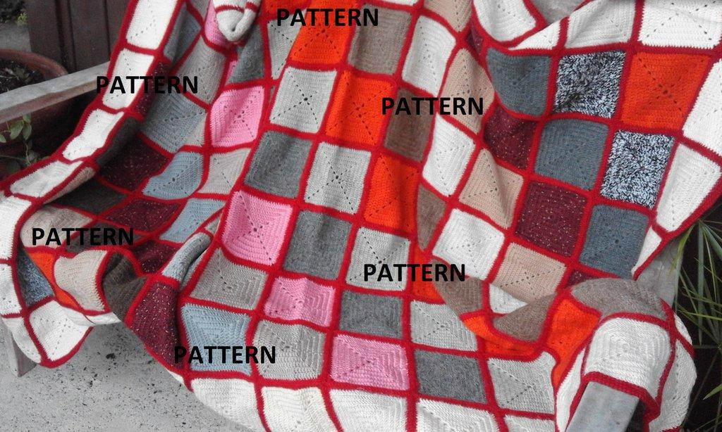 Pattern coperta in lana fatta a mano