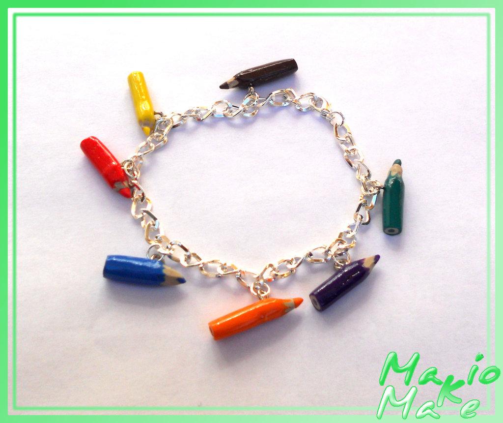 Bracciale matite in fimo