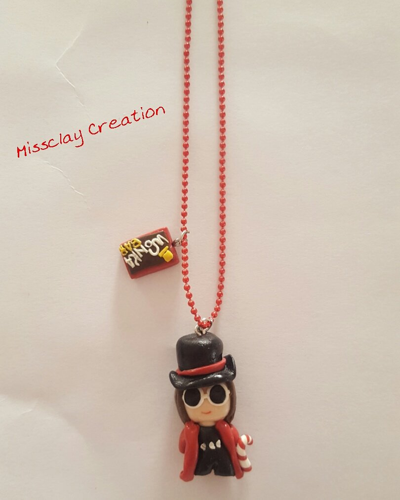 Collana Willy Wonka in fimo