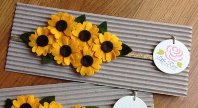 Fascia elastica a Girasoli by Little Rose Handmade