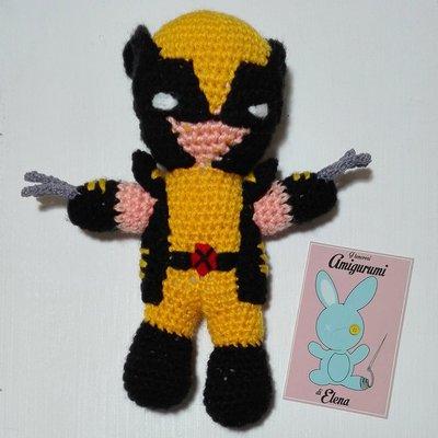 Wolverine X Men amigurumi