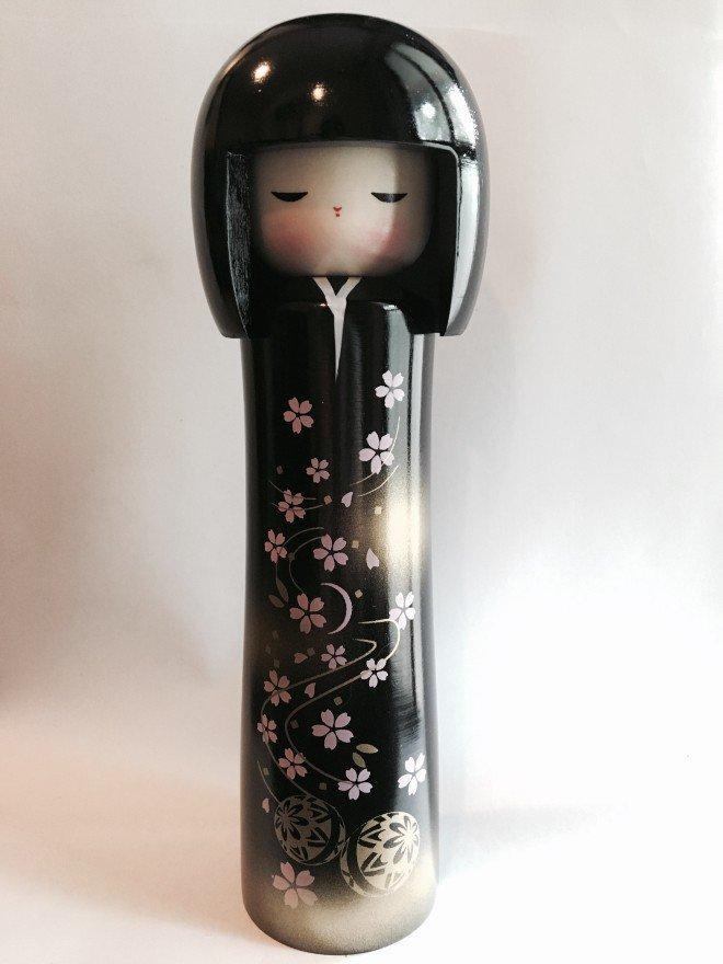 Bambole Kokeshi - Ume nera