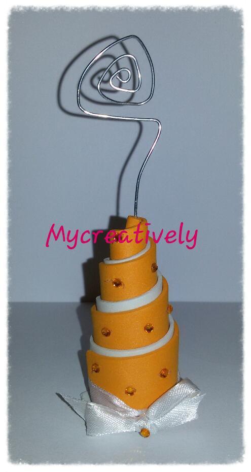 Mini torta portafoto colorata