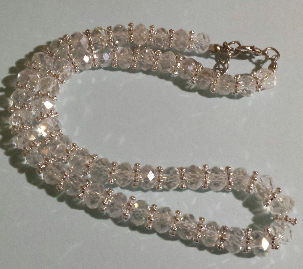 Girocollo cristalli trasparenti