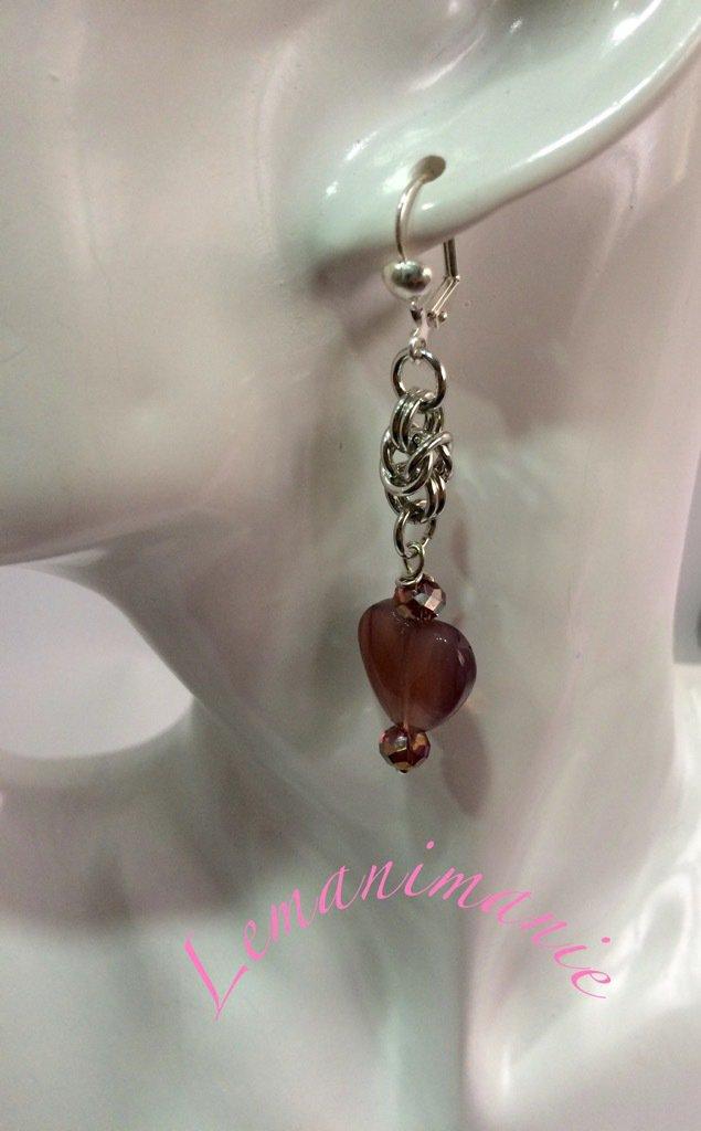 #orecchini #cuore #rosa