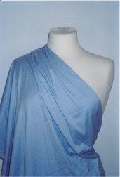 tessuto jersey cotone azzurro