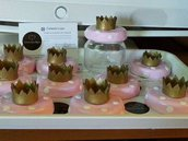 Bomboniera Barattolo in vetro portaconfetti tema principessa