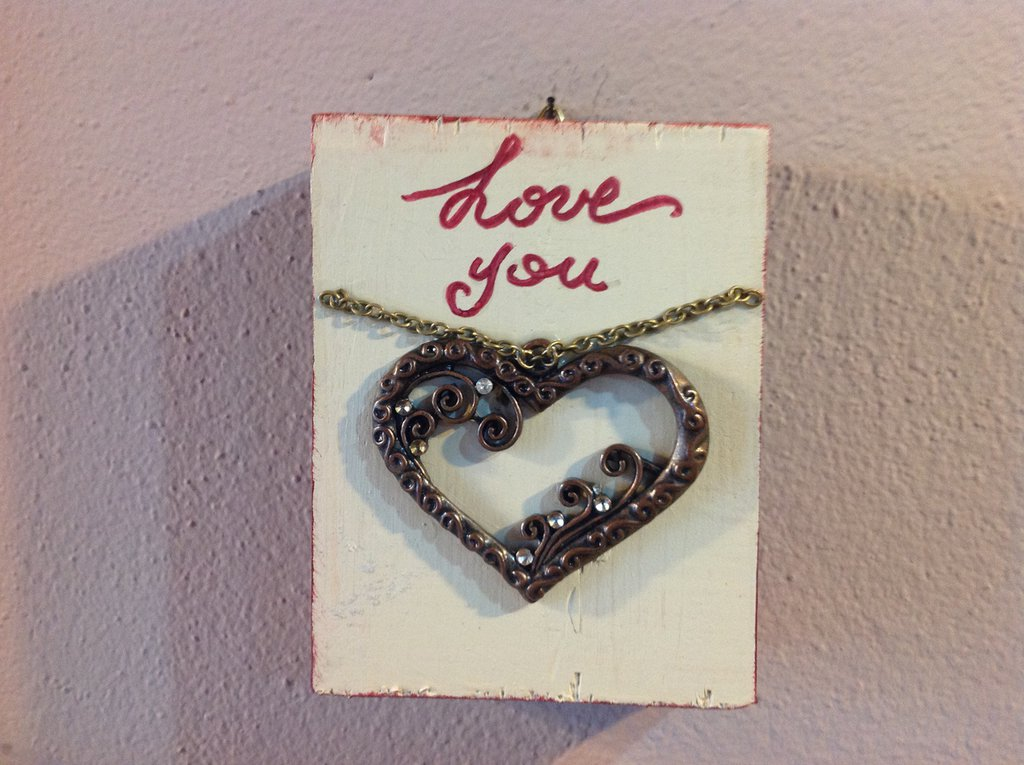 Quadretto bidimensionale love you