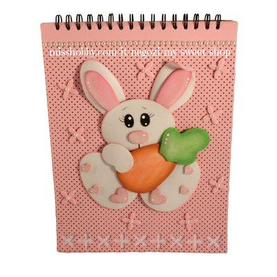 Cartamodello coniglio con carota - Tutorial gomma crepla. fommy, moosgummi
