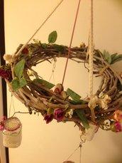 Ghirlanda floreale porta candele