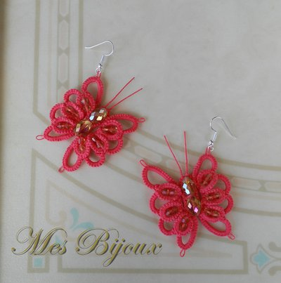 Orecchini moda chiacchierino  handmade  farfalla