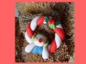 Ghirlanda pupazzo di neve- addobbi albero Natale