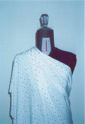tessuto lycra bianco con paillettes