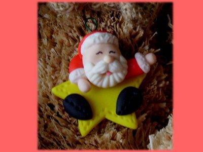Babbo Natale su stella- Regalo Natale