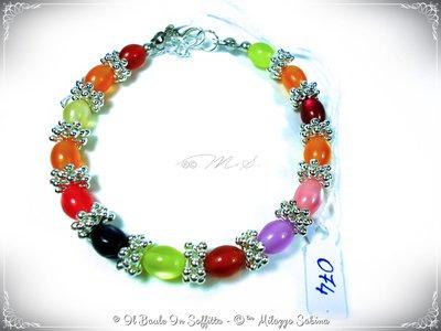 Bracciale con Perle Colorate