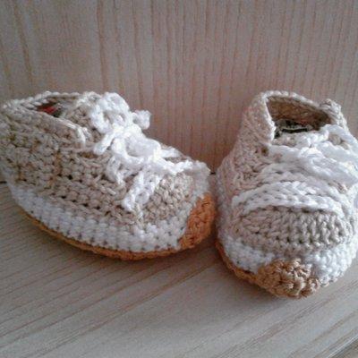 Scarpe bebè neonato fashion ad uncinetto