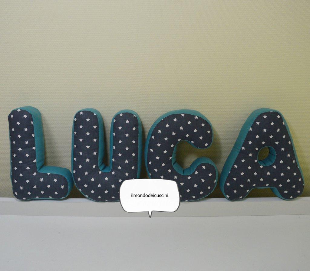 Letter pillow .