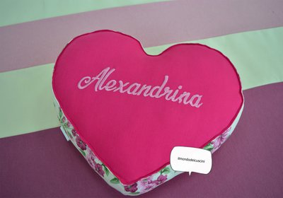 Pillow in form of heart