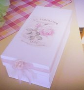 Scatola Decorata Shabby Chic