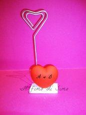 bomboniera portafoto segnaposto cuore in pasta polimerica