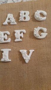 Lettere in polvere ceramica