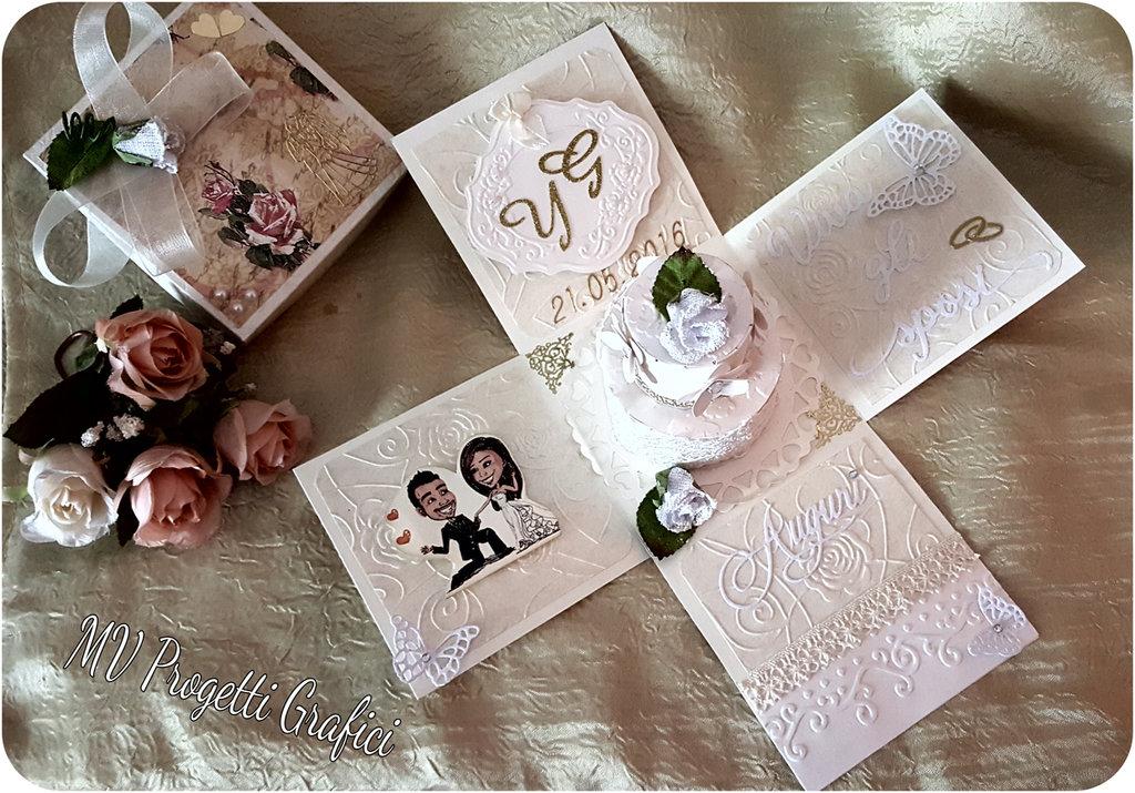Favorito EXPLOSION BOX/SCATOLINA A SORPRESA MATRIMONIO - Feste - Matrimonio  CZ16