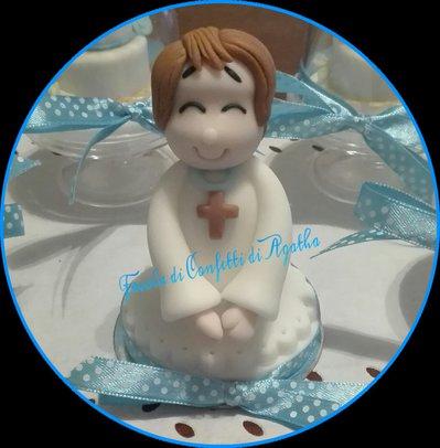 CAKE TOPPER BIMBO PER COMUNIONI E CRESIME