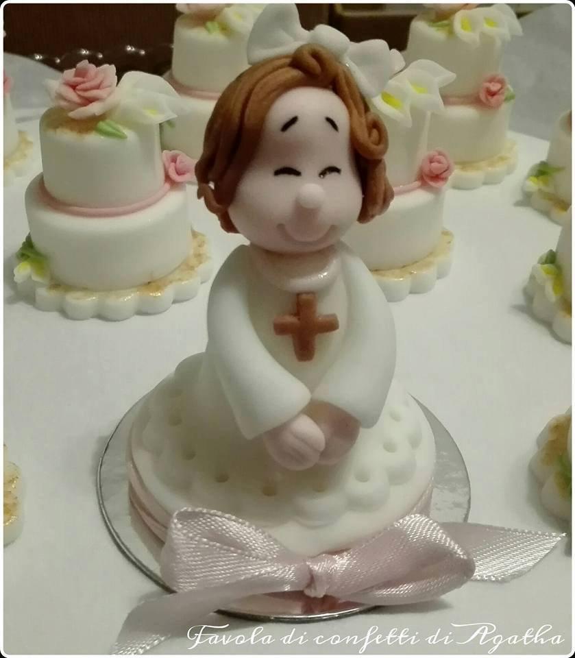 CAKE TOPPER BIMBA PER COMUNIONI E CRESIME