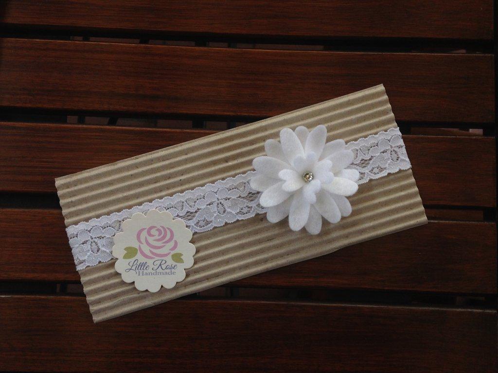 Fascia elastica per Battesimo Bimba by Little Rose Handmade