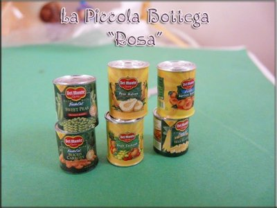 Miniature - Lattine di frutta