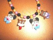 REVIVAL anni 80 HELLO SPANK - fimo - LOTTO OFFERTA STOCK - 4 ciondoli charms   - idea regalo - kawaii - compleanno